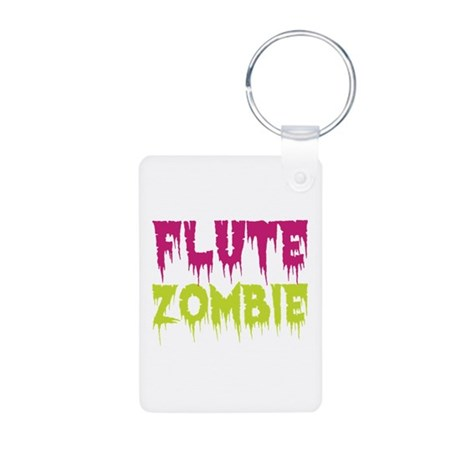 Flute Zombie Aluminum Photo Keychain