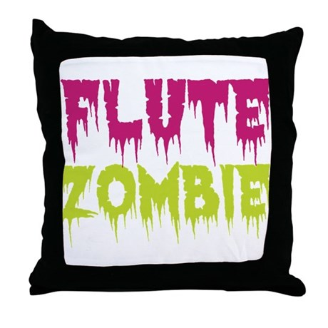 Flute Zombie Throw Pillow