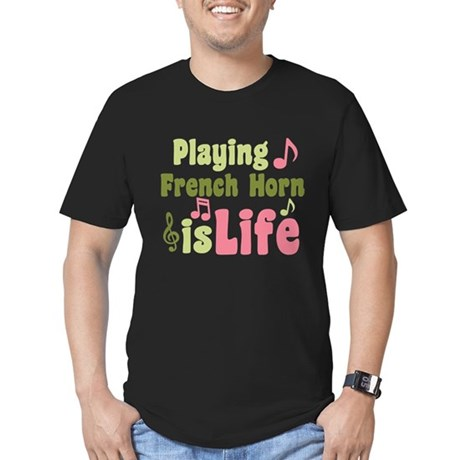 French Horn is Life Men's Fitted T-Shirt (dark)