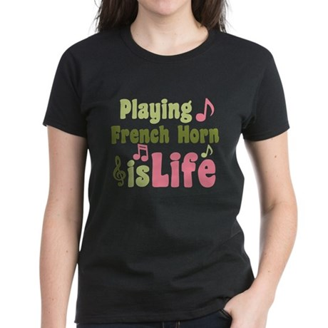 French Horn is Life Women's Dark T-Shirt