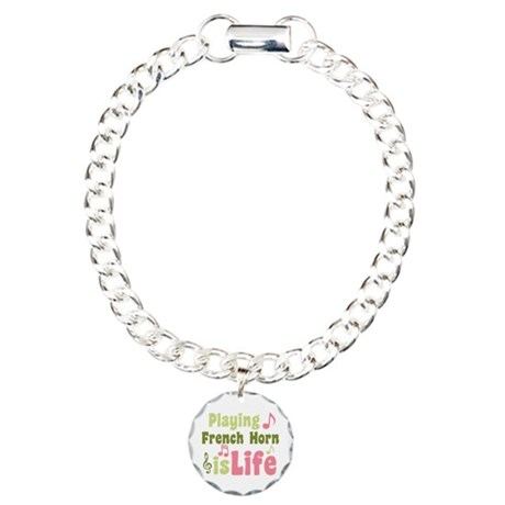 French Horn is Life Charm Bracelet, One Charm