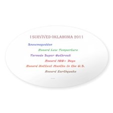 Oklahoma Earthquake Decal