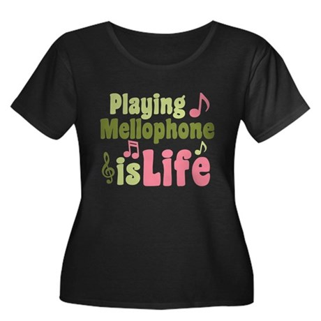 Mellophone is Life Women's Plus Size Scoop Neck Da