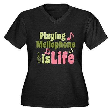 Mellophone is Life Women's Plus Size V-Neck Dark T