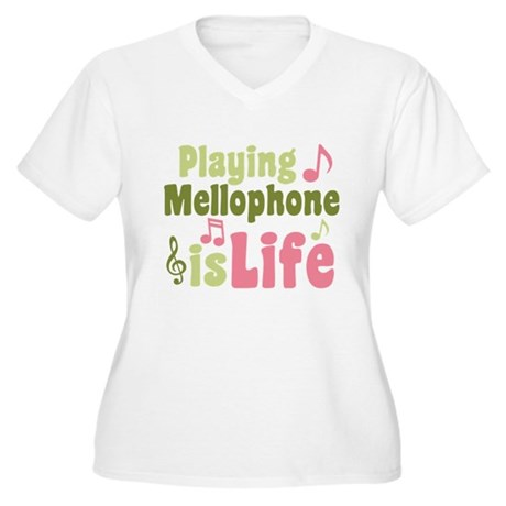 Mellophone is Life Women's Plus Size V-Neck T-Shir