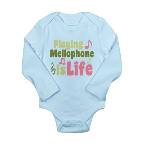 Mellophone is Life Long Sleeve Infant Bodysuit