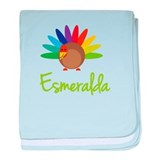 Esmeralda the Turkey baby blanket