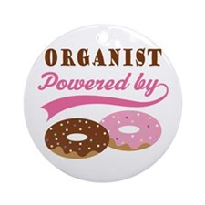 Organist Powered By Donuts Ornament (Round)