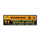 10&amp;quot; x 3&amp;quot; Zombie Outbreak Car Magnet