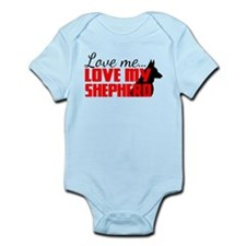 Love Me, Love My Shepherd Infant Bodysuit