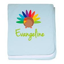 Evangeline the Turkey baby blanket