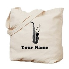 Personalized Saxophone Tote Bag