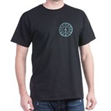 Blue Circle of Fifths Black T-Shirt
