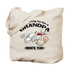 Funny Grandpa To Be Personalized Tote Bag