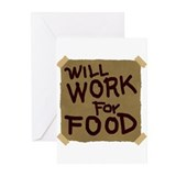 Will Work For Food Greeting Cards (Pk of 20)