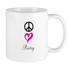 peace, love, poetry Mug