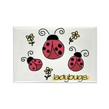 Little Ladybugs Rectangle Magnet