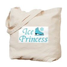 Ice Princess Turquoise Skate Tote Bag