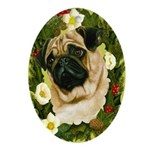 Pug Ornament (Oval)