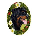 Rottweiler Ornament (Oval)