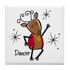 Dancer Reindeer Tile Coaster