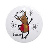 Dancer Reindeer Ornament (Round)