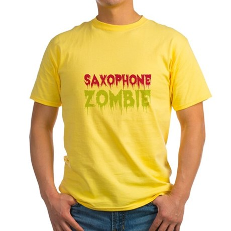 Saxophone Zombie Yellow T-Shirt