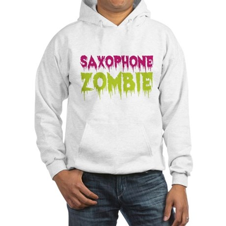 Saxophone Zombie Hooded Sweatshirt