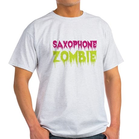 Saxophone Zombie Light T-Shirt