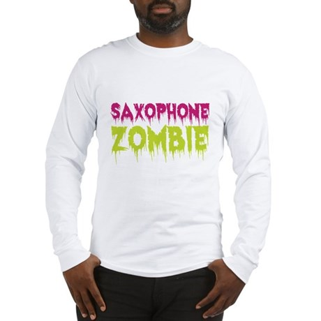 Saxophone Zombie Long Sleeve T-Shirt
