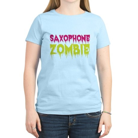 Saxophone Zombie Women's Light T-Shirt