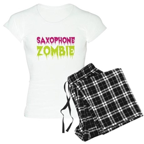 Saxophone Zombie Women's Light Pajamas