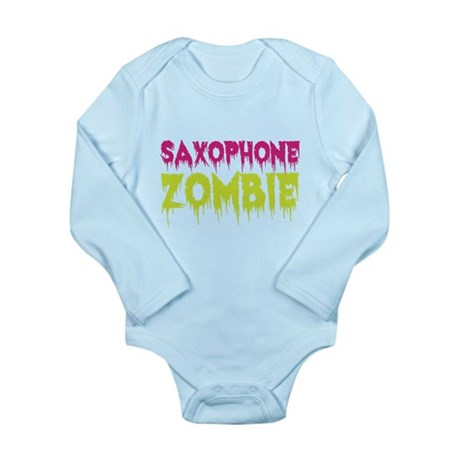 Saxophone Zombie Long Sleeve Infant Bodysuit
