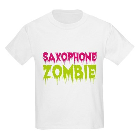 Saxophone Zombie Kids Light T-Shirt