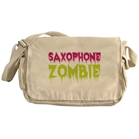 Saxophone Zombie Messenger Bag