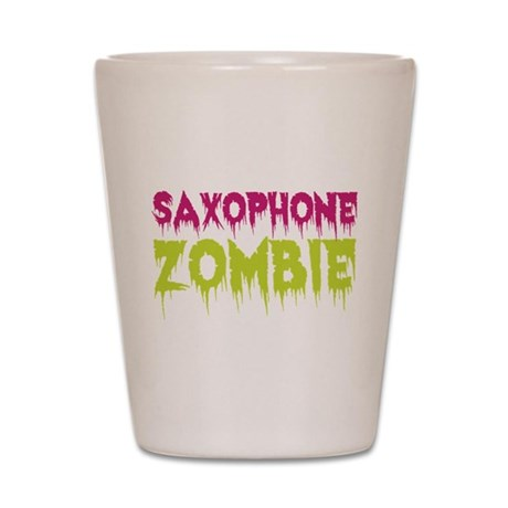 Saxophone Zombie Shot Glass