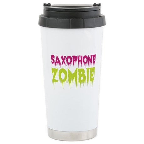 Saxophone Zombie Ceramic Travel Mug