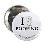 "Johnny The Toilet 2.25"" Button"