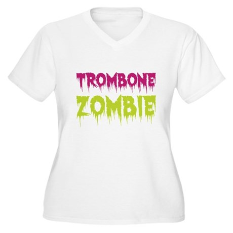 Trombone Zombie Women's Plus Size V-Neck T-Shirt