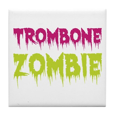 Trombone Zombie Tile Coaster