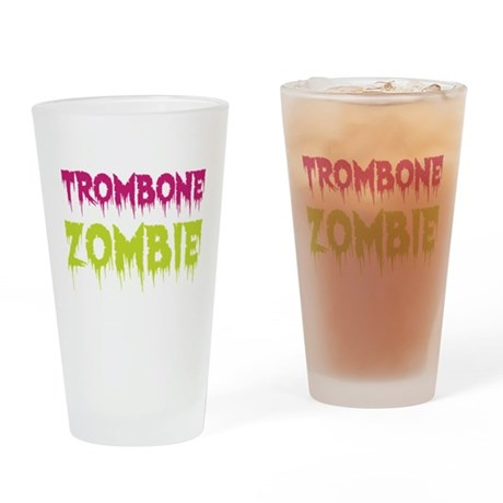 Trombone Zombie Drinking Glass