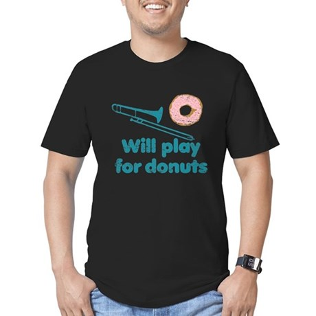 Will Play Trombone for Donuts Men's Fitted T-Shirt