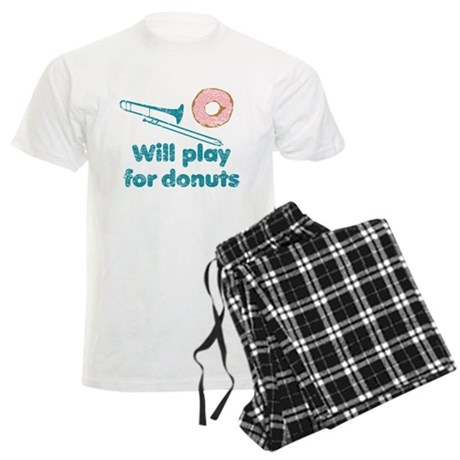 Will Play Trombone for Donuts Men's Light Pajamas