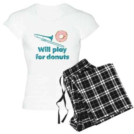 Will Play Trombone for Donuts Women's Light Pajama