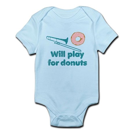 Will Play Trombone for Donuts Infant Bodysuit