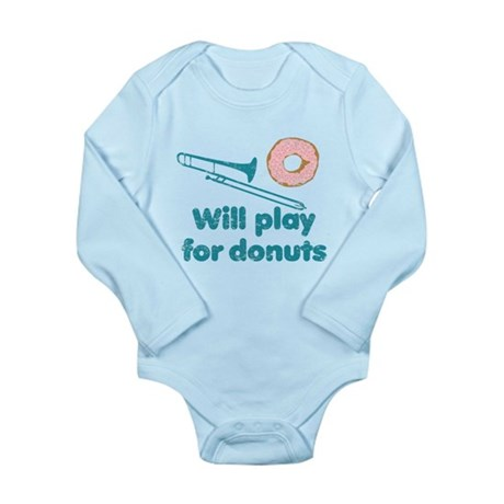 Will Play Trombone for Donuts Long Sleeve Infant B