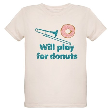 Will Play Trombone for Donuts Organic Kids T-Shirt