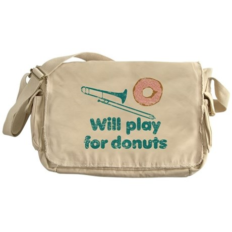 Will Play Trombone for Donuts Messenger Bag