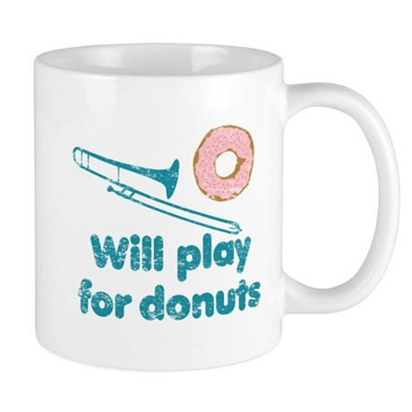 Will Play Trombone for Donuts Mug