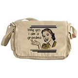 Retro Grandma Messenger Bag